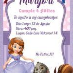 Como crear una invitacion de la Princesa Sofia