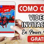 Como Crear Invitación Virtual de Spider Man