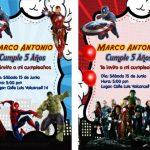 Como crear una invitación de los Vengadores Avengers