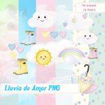 Imágenes Lluvia de Amor PNG