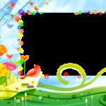 marco fondo colorido