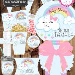 KIT IMPRIMIBLE BABY SHOWER NUBE