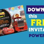 FREE Editable CARS Birthday Invitation