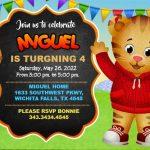 Invitation Daniel Tiger FREE DOWNLOAD