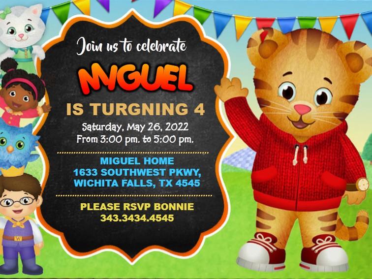 Invitation Daniel Tiger