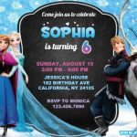 Frozen Birthday Invitation | Elsa Anna Disney Princess Winter Birthday Party Invite Template, Printable, Editable Instant Download FREE | DIGITAL