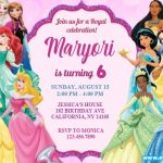 Disney Princess Birthday Invitations | Royal Girl Birthday Party Invites Custom Template, Printable, Editable Instant Download FREE | DIGITAL