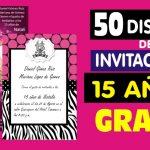 Pack 50 Diseños para Invitaciones de 15 Años