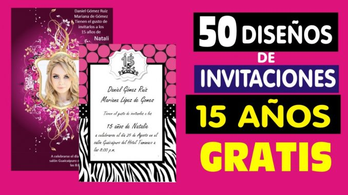 Pack 50 Diseños Para Invitaciones De 15 Años Mega Idea
