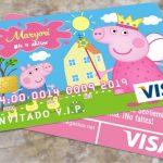 Crear Invitacion Visa de la Peppa Pig con PowerPoint