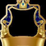marco dorado azul principe