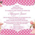 Plantilla de Invitación de Bautizo Niña – Baptism Invitation Girl Free