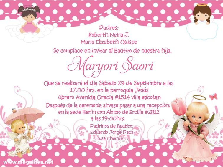 Bautizo Girl Invitacion