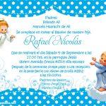 Plantilla de Invitación de Bautizo – Baptism Invitation Boy Free