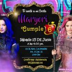 Plantilla Invitación Descendientes – Descendants 3 invitation