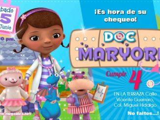 Doctora Juguete Invitacion