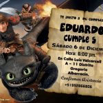 Plantilla Invitación Dragon 3 Chimuelo – How to train your dragon 3 invitation