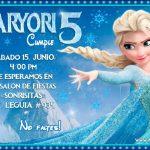 Plantilla Invitación de la Frozen Elsa – Frozen Invitation FREE