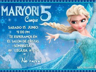 Elsa Frozen Invitacion
