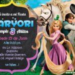 Plantilla Enredados Rapunzel Invitación – Tangled Invitation, Rapunzel Invitation