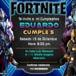Plantilla Fortnite Invitación – Invitation Fortnite Free