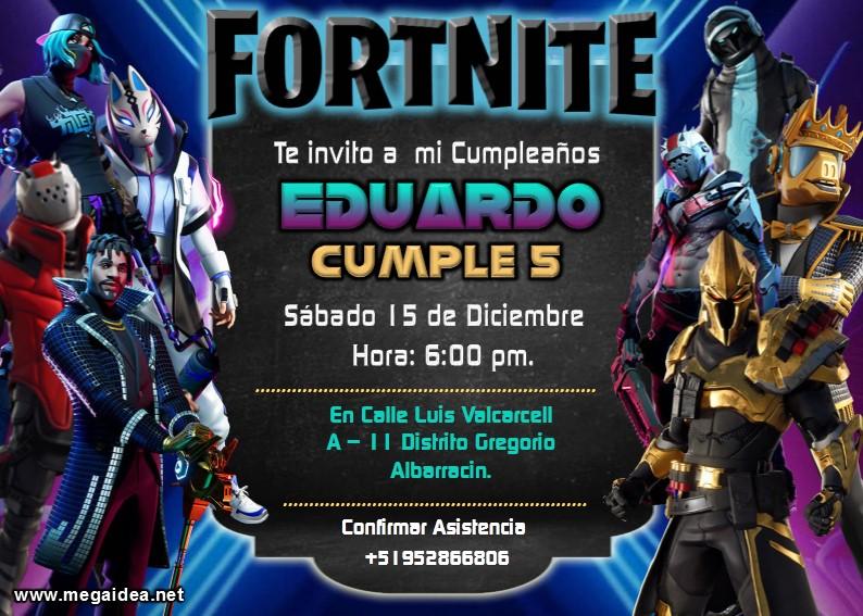 Fortnite Invitacion