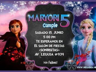 Frozen2 Invitacion