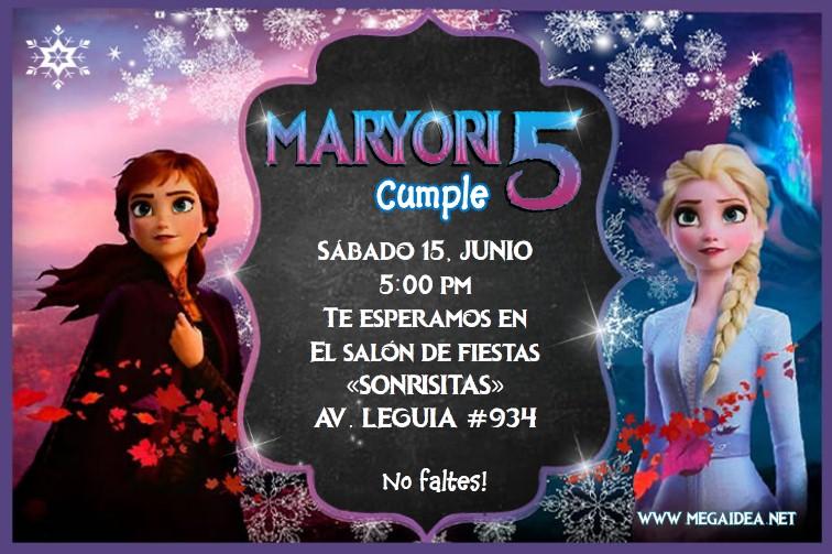 Plantilla Invitación Frozen 2 Frozen 2 Invitation Free