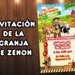 Plantilla Invitación de la Granja de Zenon – Zenon Farm Invitation FREE