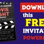 Printable Backyard Movie Night Party Invitation FREE | Movie Night Invitation | movie night birthday party invitations