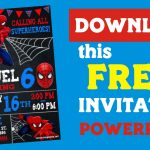 Spiderman Invitation FREE, Spiderman, Spiderman Party, Spiderman Printable