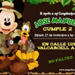 Plantilla Invitación Mickey Safari – Mickey safari invitation