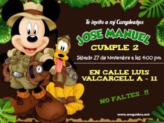 Mickey Safari Invitacion