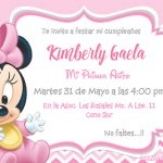 Plantillas de Invitaciones de la Minnie Bebe – Minnie Mouse Invitation FREE