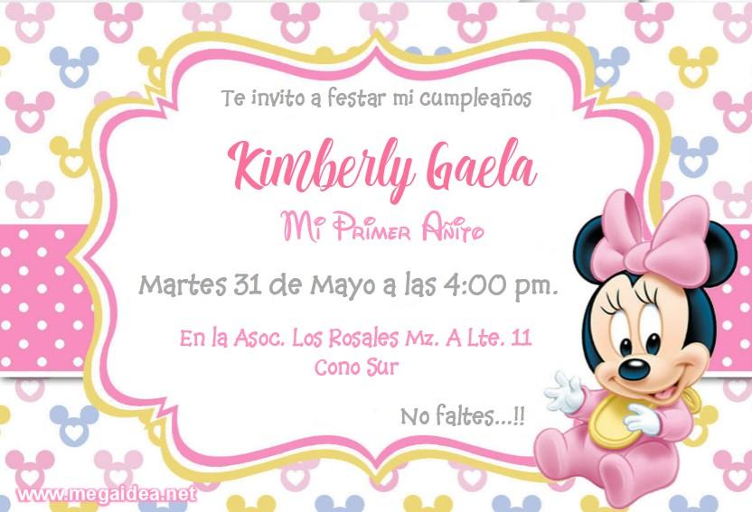 Minnie bebe Invitacion2