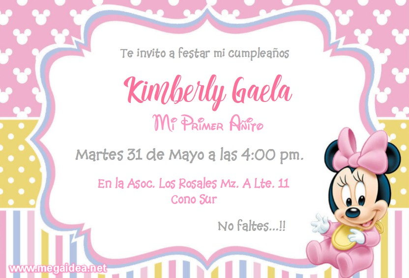 Minnie bebe Invitacion3