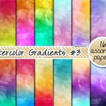 Fondo Papel Digital Acuarela Gradiente – Watercolor Gradients