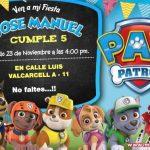 Invitación de Patrulla Canina para Editar, Paw Patrol Birthday Invitation FREE