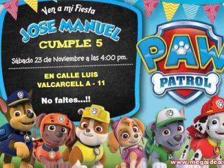 Paw Patrol Invitacion