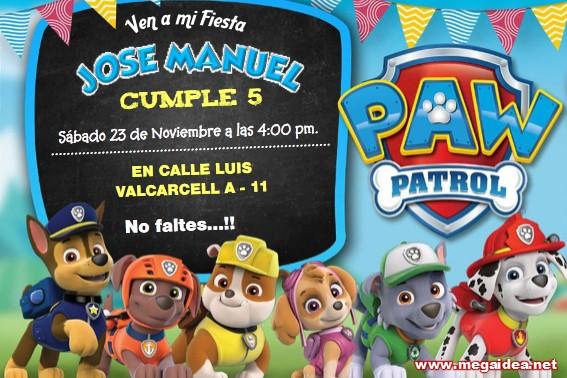 Invitación De Patrulla Canina Para Editar Paw Patrol Birthday Invitation Free Mega Idea