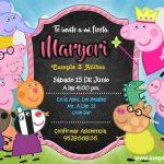 Invitación de la Peppa Pig Plantilla Editable – Peppa Pig Invitation FREE