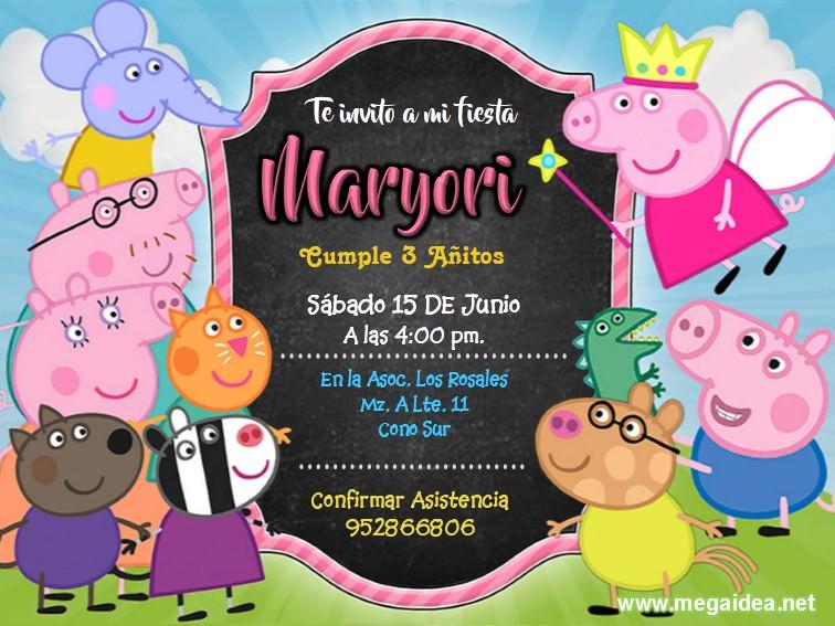 Peppa Pig Invitacion