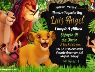 Rey Leon Invitacion
