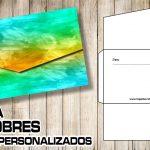 Plantilla de Sobres para Invitaciones – Envelope Template Free