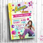 Plantilla de Invitación de Soy Luna – Soy Luna Invitation