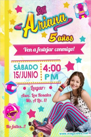 Plantilla De Invitación De Soy Luna Soy Luna Invitation