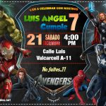 Invitación de los Vengadores en PowerPoint – Avengers Invitation Download Free
