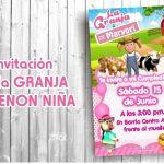 Plantilla de Invitación de la Granja de Zenon Niña – Zenon Farm Girl Invitation FREE