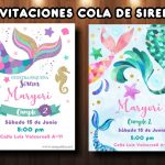 Plantilla Invitación Cola de Sirena – Mermaid Invite Free