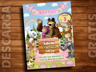 masha oso invitacion